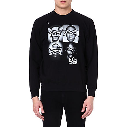 HYPE MEANS NOTHING Total four sweatshirt (Black