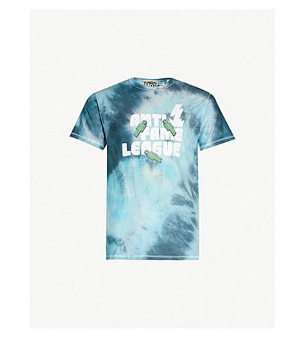 RYAN HAWAII Anti-Fame League tie-dye cotton-jersey T-shirt (Tie dye