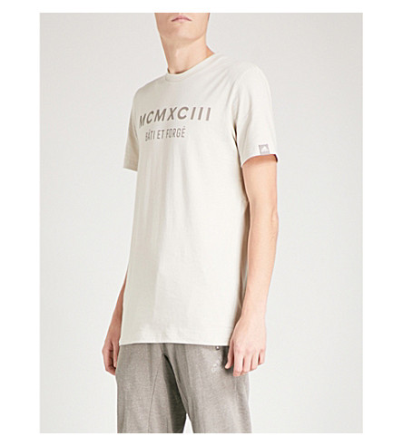 ADIDAS Adidas x Paul Pogba logo-print cotton-jersey T-shirt (Clear+brown