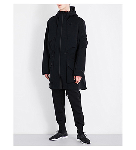 Y3 Hooded jersey jacket (Black