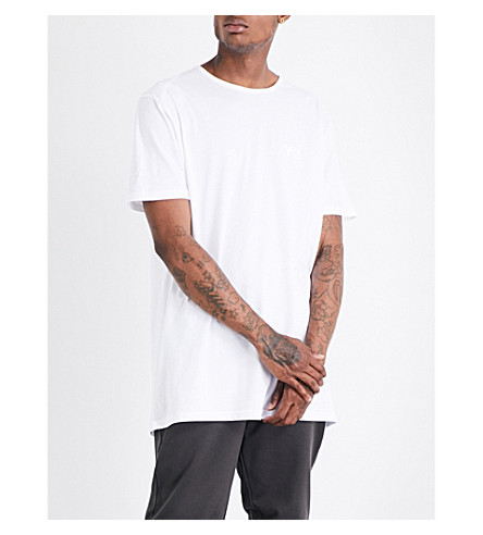 Y3 Shattered logo-print cotton-jersey T-shirt (White