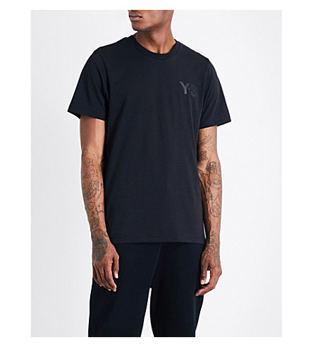 Y3 Logo-print cotton-jersey T-shirt (Black