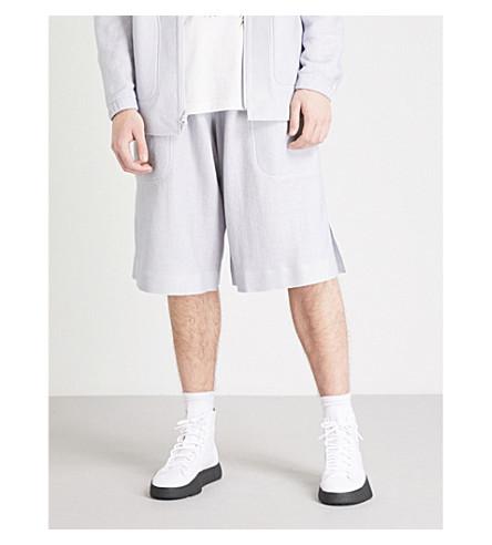 Y3 Reversible woven shorts (Sheer+grey