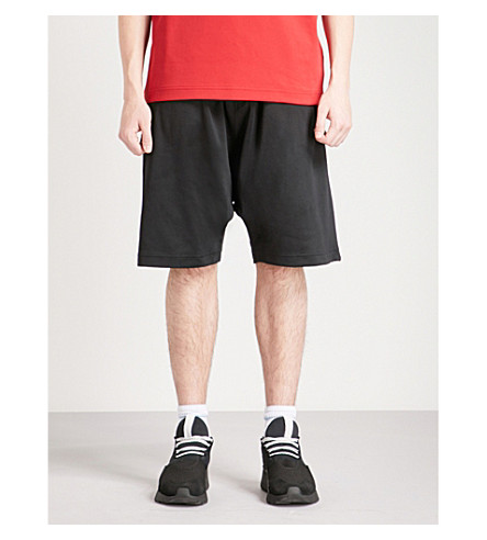 Y3 Y3 logo-print cotton-blend shorts (Black