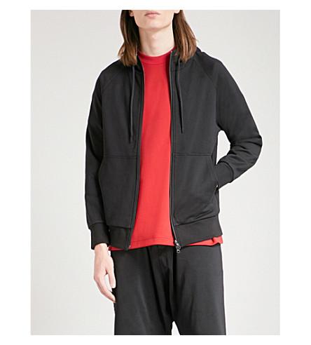 Y3 Y3 printed cotton-jersey hoody (Black
