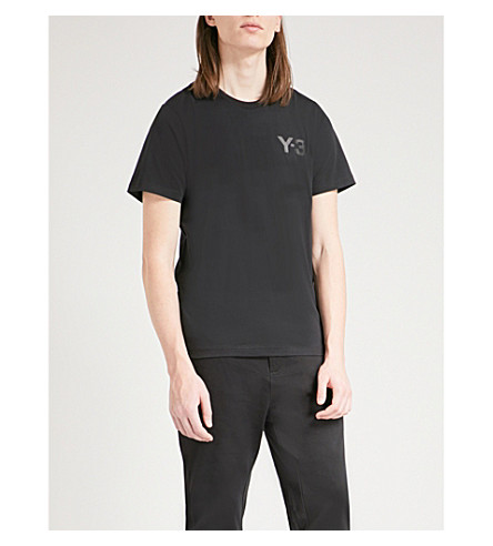 Y3 Y3 logo-print cotton-jersey T-shirt (Black