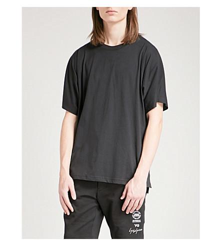 Y3 Y3 printed cotton-jersey T-shirt (Black