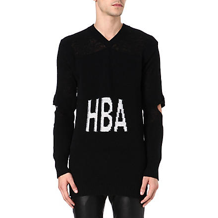 HOOD BY AIR Corgi hockey jumper (Black