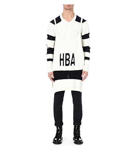 HOOD BY AIR Corgi long jumper and vest (White/navy