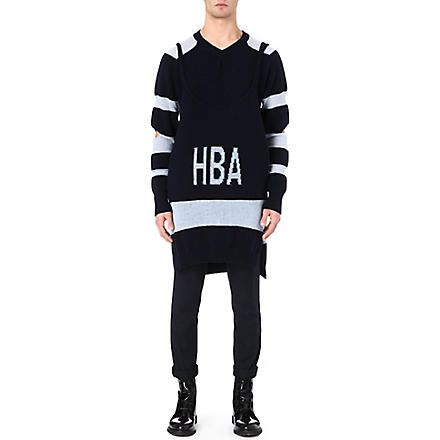 HOOD BY AIR Corgi long jumper and vest (Navy/light+blue