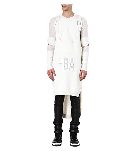 HOOD BY AIR Corgi long jumper and vest (White