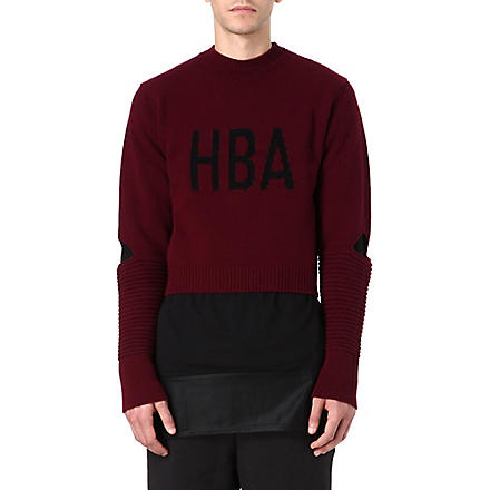 HOOD BY AIR Corgi Cage jumper (Maroon