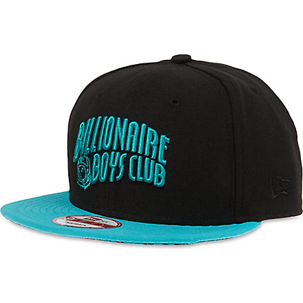 BILLIONAIRE BOYS CLUB Contrast logo snapback (Black/teal