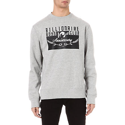 BILLIONAIRE BOYS CLUB Anniversary sweatshirt (Grey
