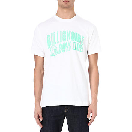 BILLIONAIRE BOYS CLUB Classic Arch logo t-shirt (White/ice green