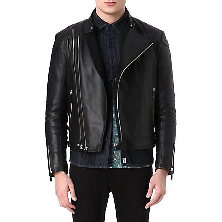 BILLIONAIRE BOYS CLUB Wolfman leather jacket (Black