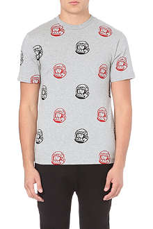 BILLIONAIRE BOYS CLUB Helmet repeat-print t-shirt