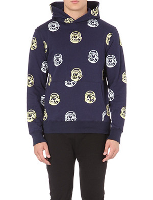 BILLIONAIRE BOYS CLUB Helmet repeat-print hoody