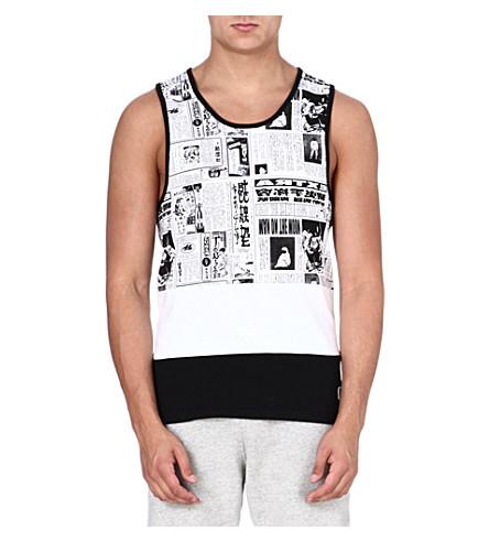 BILLIONAIRE BOYS CLUB Printed news vest (Black