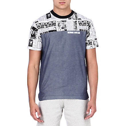 BILLIONAIRE BOYS CLUB Space news contrast t-shirt (Chambray