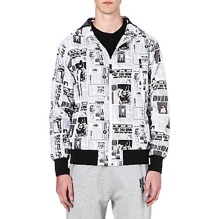 BILLIONAIRE BOYS CLUB News print jacket (Black