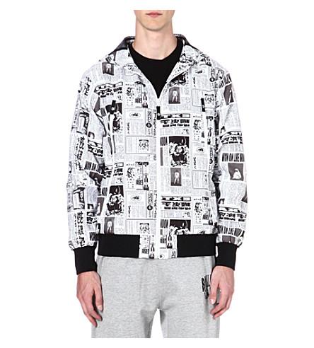 BILLIONAIRE BOYS CLUB News print jacket (Black