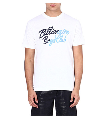 BILLIONAIRE BOYS CLUB Slash logo t-shirt (White