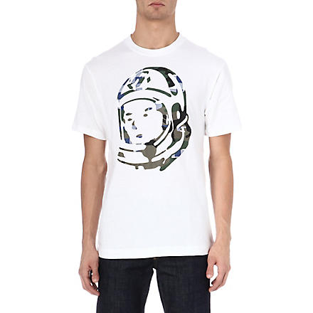 BILLIONAIRE BOYS CLUB Camo helmet t-shirt (White