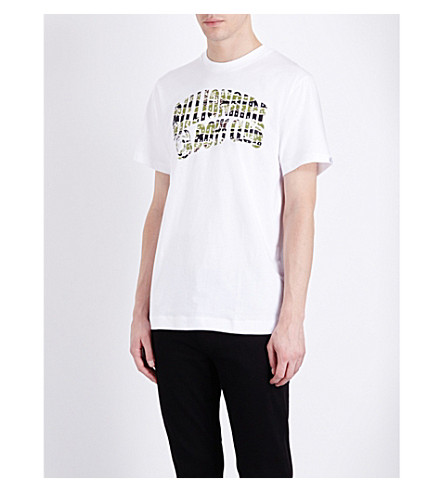 BILLIONAIRE BOYS CLUB Camou logo-print cotton-jersey t-shirt (White