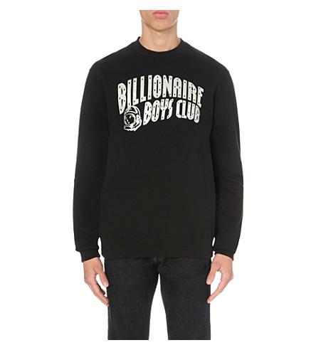 BILLIONAIRE BOYS CLUB Logo-print cotton-jersey sweatshirt (Black+silver