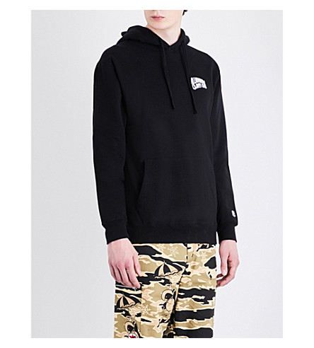 BILLIONAIRE BOYS CLUB Arch logo cotton hoody (Black