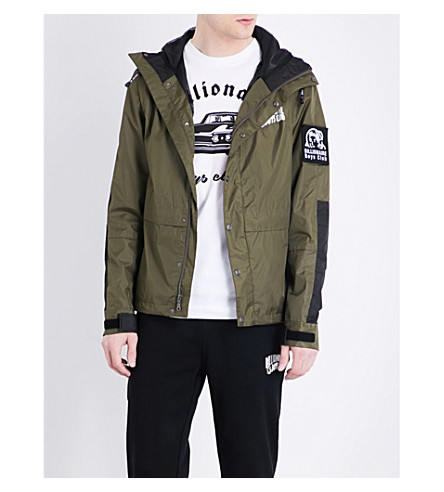 BILLIONAIRE BOYS CLUB Patch-detail shell jacket (Olive