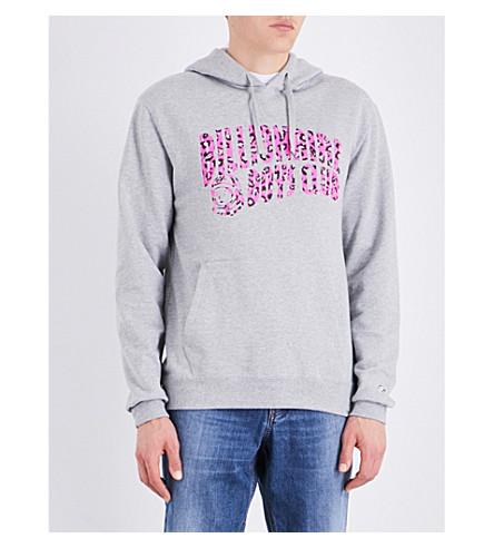 BILLIONAIRE BOYS CLUB Leopard cotton-jersey hoody (Heather grey