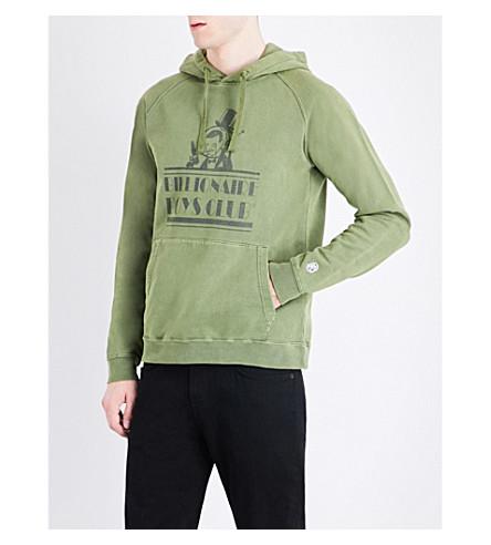 BILLIONAIRE BOYS CLUB Space Beach Hotel cotton hoody (Overdye+olive