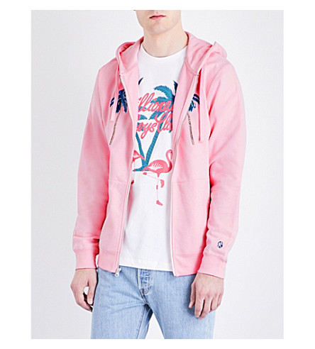 BILLIONAIRE BOYS CLUB Space Beach Hotel cotton hoody (Pink
