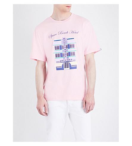 BILLIONAIRE BOYS CLUB Space Hotel cotton-jersey T-shirt (Pink