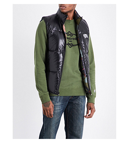 BILLIONAIRE BOYS CLUB Reversible quilted shell gilet (Blk+camo