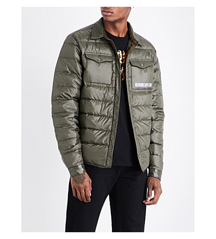 BILLIONAIRE BOYS CLUB Overshirt quilted shell jacket (Olive