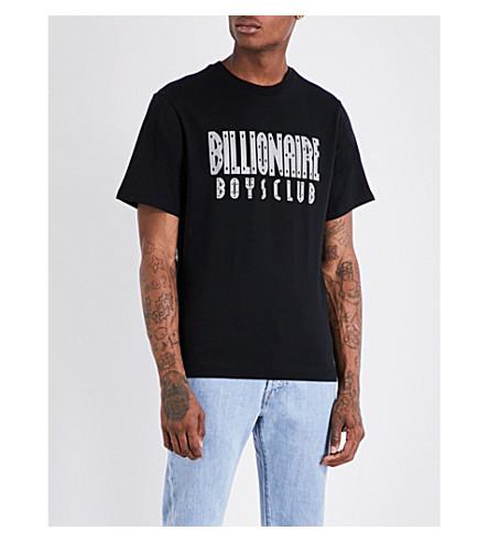 BILLIONAIRE BOYS CLUB Reflective logo T-shirt (Black