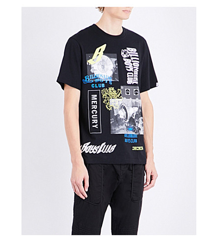 BILLIONAIRE BOYS CLUB Space Beach cotton-jersey T-shirt (Black