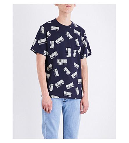 BILLIONAIRE BOYS CLUB Repeat-print cotton-jersey T-shirt (Blue
