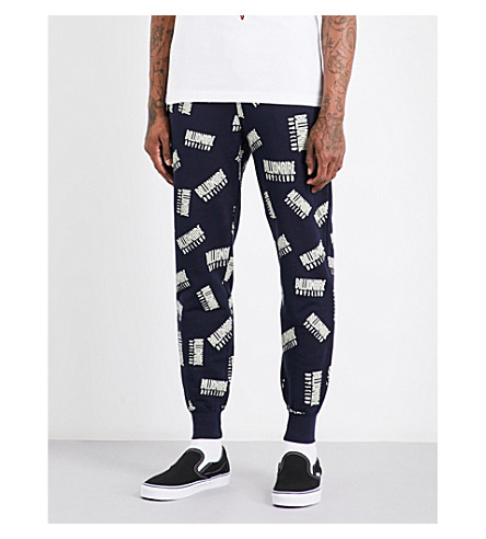 BILLIONAIRE BOYS CLUB Logo-print cotton-jersey jogging bottoms (Dress blue