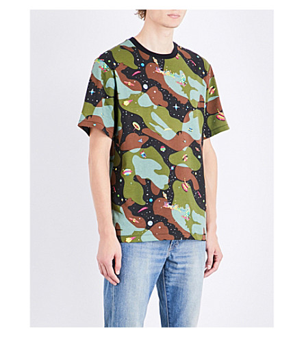 BILLIONAIRE BOYS CLUB Space Camo cotton-jersey T-shirt (Camo