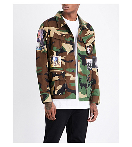BILLIONAIRE BOYS CLUB Military Overshirt cotton-blend shirt (Camo
