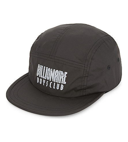 BILLIONAIRE BOYS CLUB Reflective logo five-panel strapback cap (Black