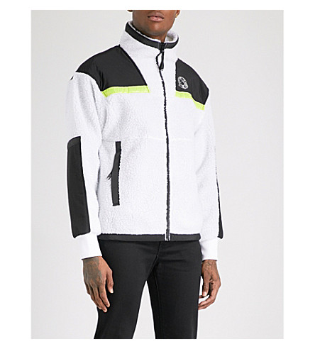 BILLIONAIRE BOYS CLUB Hi-Vis Sherpa fleece jacket (White