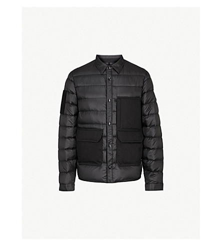 BILLIONAIRE BOYS CLUB Contrasting-panel shell-down jacket (Black