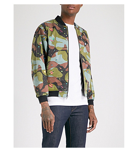 BILLIONAIRE BOYS CLUB Space Camo reversible printed cotton-twill bomber jacket (Black/camo