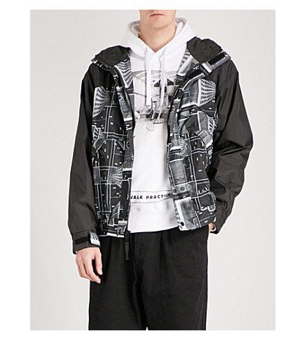 BILLIONAIRE BOYS CLUB Skyscraper Sailing shell jacket (Black/white