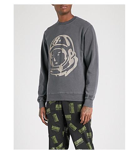 BILLIONAIRE BOYS CLUB Damaged Crewneck printed cotton-jersey sweatshirt (Black